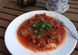Red Sauce Pasta Dish