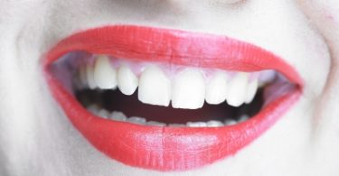 Laughing Woman s Red Lips by adamr