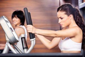 """""""Women In Gym Center"""" by marin"""