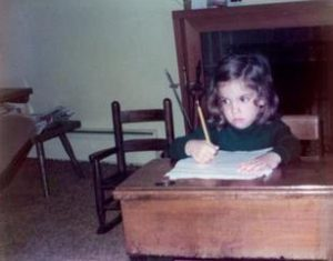 """Me and my """"focused face"""" at age 3"""