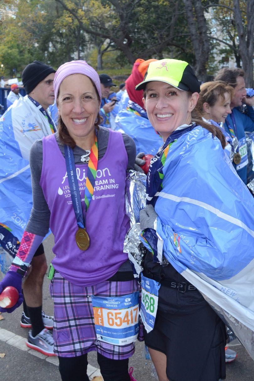 Our NYC Marathon finish!