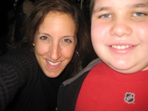 My nephew Shawn (at age 13) and I