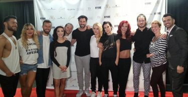 Susan Jacobs with the cast of SWAY: A Dance Triology