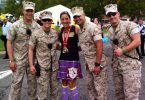 Finishing the Marine Corps Marathon with the Marines!