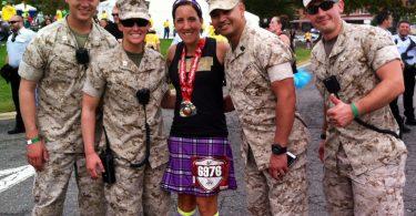 Finishing the Marine Corps Marathon with the Marines!