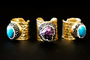 Glitter Trunk Statement Rings