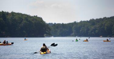 Kayaks on Lake - Annie Killam Photography