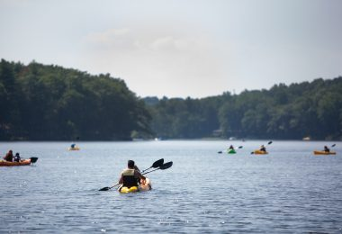 Kayaks on Lake - Annie Killam Photography